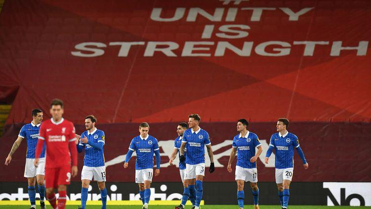 Liverpool s'est incliné à domicile face à Brighton lors de la 22e journée de Premier League. (PAUL ELLIS / POOL)