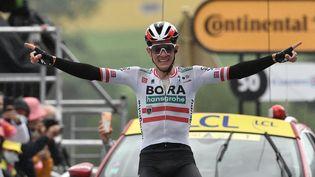 Patrick Konrad (Bora-Hansgrohe), vainqueur de la 16e étape du Tour de France 2021. (PHILIPPE LOPEZ / AFP)