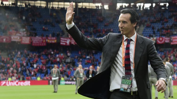 L'entraîneur du FC Séville, Unai Emery (JAVIER SORIANO / AFP)
