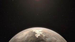 Image publiée le 13 novembre 2017 par l'Observatoire européen australpour montrer la planète Ross 128b située à 11 années-lumière du Système solaire. (M. KORNMESSER / EUROPEAN SOUTHERN OBSERVATORY / AFP)