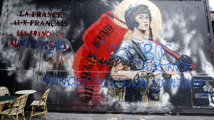 """La fresque de Combo """"Jeanne de Panam"""" dans le quartier Oberkampf à Paris 11e - Juin 2015  (Citizenside/Anthony Deperraz / AFP)"""
