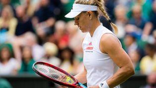Angelique Kerber lors de la demi-finaledu tournoi de Wimbledon 2021, à Londres, le 8 juillet 2021. (ROB PRANGE / AFP)