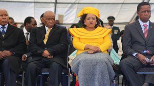 Maesaiah Thabane photographiée aux côtés de Thomas Thabane lors de l'investiture de ce dernier à Maseru, au Lesotho, le 16 juin 2017. (SAMSON MOTIKOE / AFP)