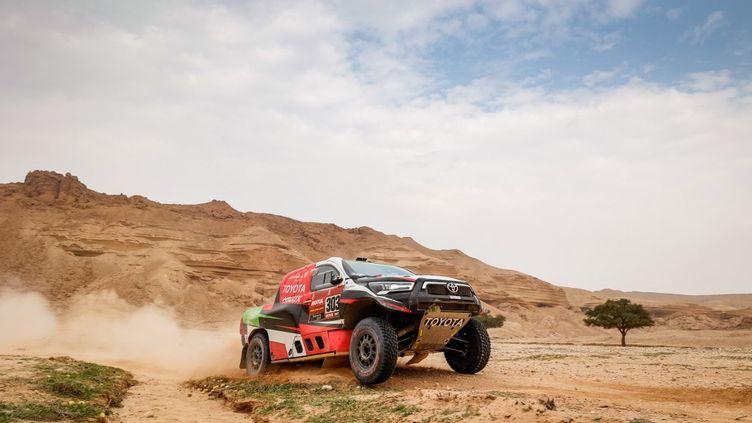 Yazeed Al-Rajhi signe une première victoire sur le Dakar depuis 2015. (FREDERIC LE FLOC H / DPPI MEDIA)