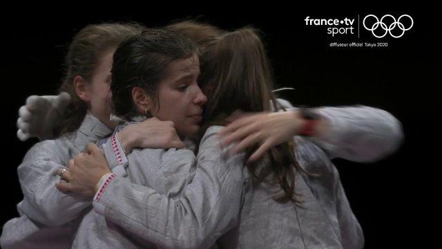Quelle fin de match pour les sabreuses françaises !!  Elles n'ont pas démérité (45-41) Très belle finale. Bravo pour cette médaille d'argent, la19e pour la France.