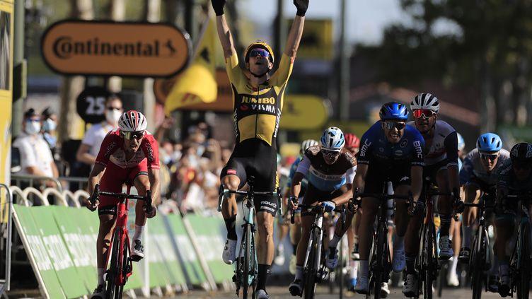 Wout Van Aert (Jumbo) vainqueur de la 7e étape du Tour de France 2020 (CHRISTOPHE PETIT TESSON / POOL)