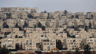 La colonie deRamat Shlomo, dans l'Est de Jérusalem, le 28 décembre 2016. (AHMAD GHARABLI / AFP)