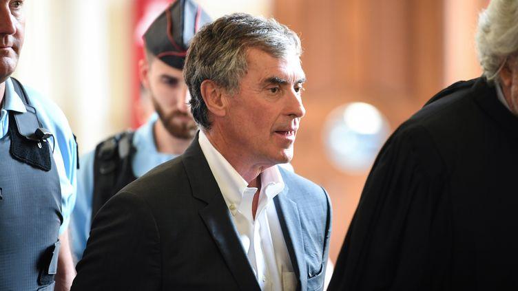 Jérôme Cahuzac, le 15 mai 2018 au palais de justice de Paris. (ERIC FEFERBERG / AFP)