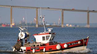 Un bateau de pêche à Saint-Nazaire (Loire-Atlantique), le 15 juillet 2014. (JEAN-SEBASTIEN EVRARD / AFP)