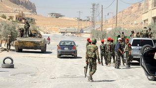 L'armée syrienne à Maalula, le 7 septembre 2013 au nord de Damas (AFP)