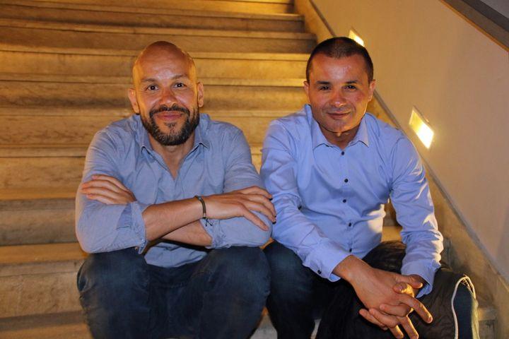 Mourad Merzouki et Kader Attou en avril 2018 à Casablanca  (S.Jouve/Culturebox)