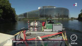Le transport fluviale se développe à Strasbourg (France 2)