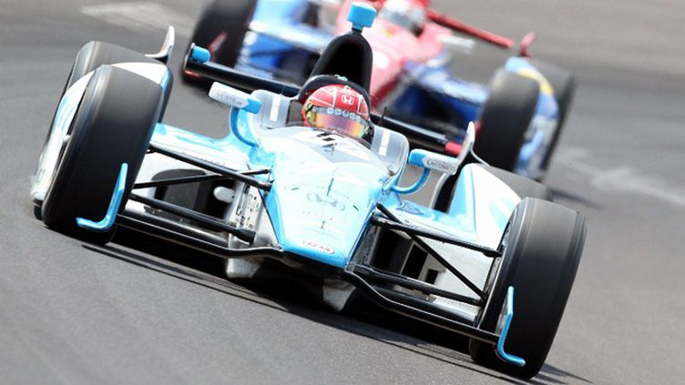 Simon Pagenaud en qualifications à Indianapolis (ANDY LYONS / GETTY IMAGES NORTH AMERICA)
