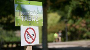 Le Conseil de Paris a acté, ce mardi, l'expérimentation de l'interdiction du tabac dans quatre parcs de la capitale. Photo d'illustration. (SEBASTIEN BOZON / AFP)