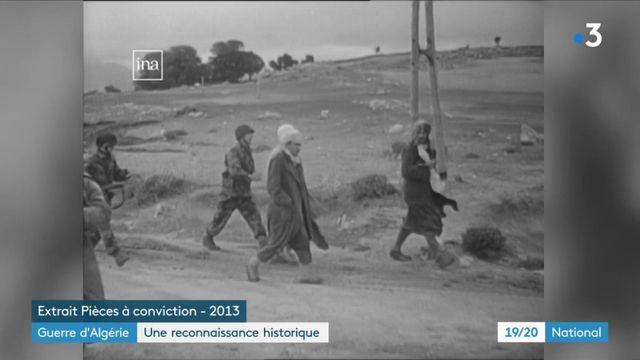 Guerre d'Algérie : une reconnaissance historique