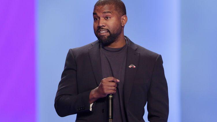 Le rappeur américain Kanye West dimanche 17 novembre 2019 durant l'office dans l'église de Lakewood à Huouston, aux Etats-Unis. (MICHAEL WYKE/AP/SIPA / SIPA)