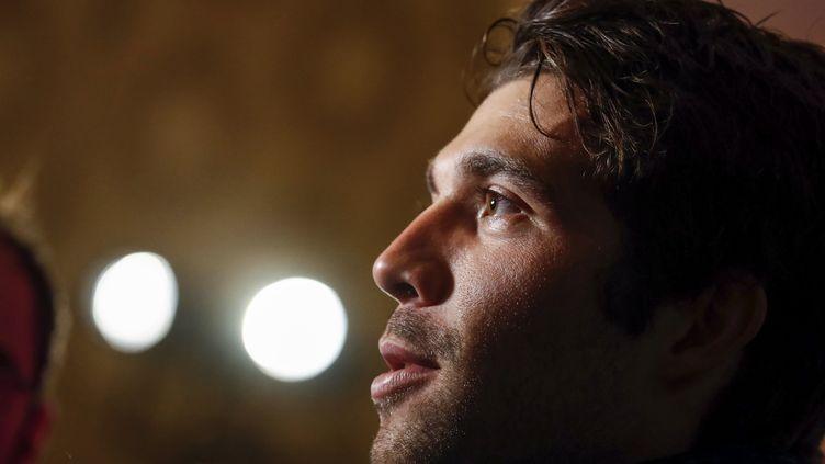 Le coureur français de Groupama-FDJ, Thibaut Pinot (LUK BENIES / AFP)