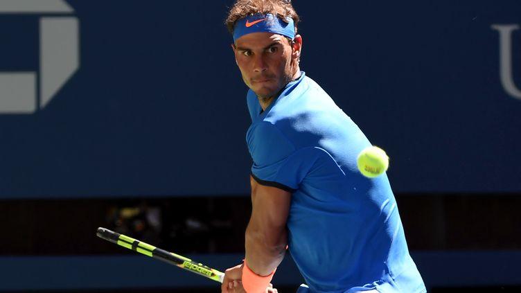 Rafael Nadal sur les courts de Flushing Meadows (MIKE FREY / BACKPAGE IMAGES LTD)