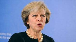 La première ministre Theresa May lors d'un discours à la British Academy de Londres, le 9 septembre 2016. (NICK ANSELL / AFP)