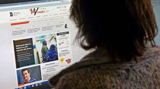 Le site d'information 14ymedio.com, lancé le 21 mai 2014 à Cuba par la blogueuse dissidente Yoani Sanchez. (PANTA ASTIAZARAN / AFP)
