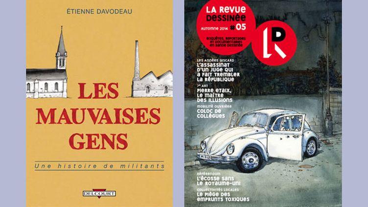 (© Etienne Davodeau, Delcourt / Nicolas de Crécy, la Revue dessinée)