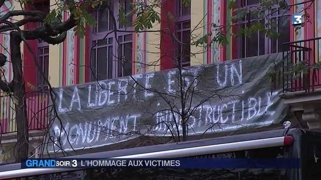 une France unie lundi devant le Bataclan