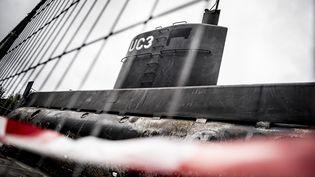 """Le sous-marin """"UC3 Nautilus"""" de l'inventeur danois Peter Madsen, à bord duquel la journaliste suédoise Kim Wall avait embarqué, le 11 septembre 2017 à Copenhague (Danemark). (MADS CLAUS RASMUSSEN / SCANPIX DENMARK / AFP)"""