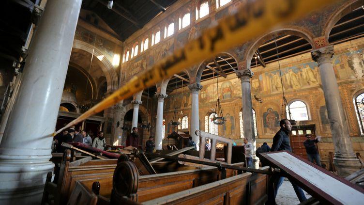 A l'intérieur de l'église copte du Caire visée par un attentat-suicide, le 11 décembre 2016. (MOHAMED ABD EL GHANY / REUTERS)