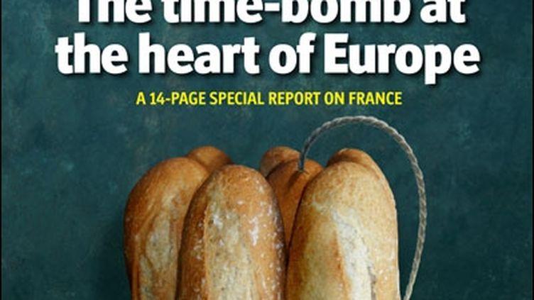 """La couverture de """"The Economist"""" du 17 novembre, qui dépeint la France comme une """"bombe à retardement au cœur de l'Europe"""""""" (THE ECONOMIST)"""