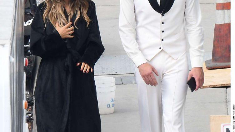 """Ryan Lochte et l'actrice et chanteuse Jana Kramer aprèsl'émission """"Danse avec les stars"""", à Los Angeles (Californie, Etats-Unis), le 13 septembre 2016. (JXA/WENN.COM/SIPA / SIPA USA)"""