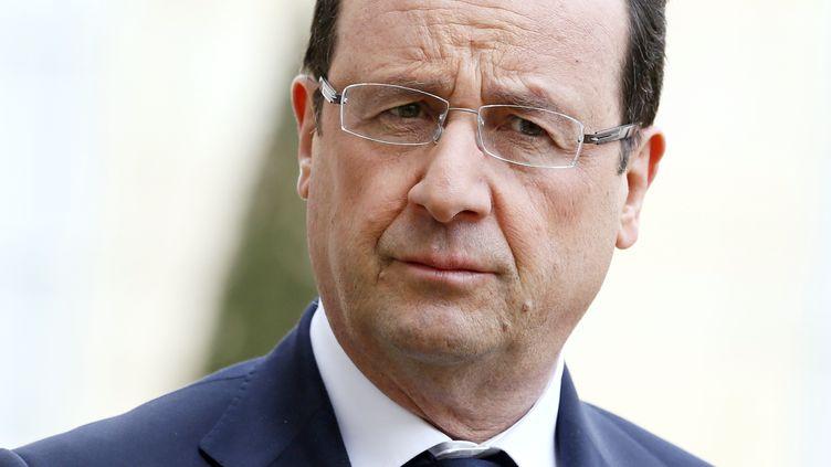 François Hollande, le 11 avril 2013 à Paris. (PATRICK KOVARIK / AFP)