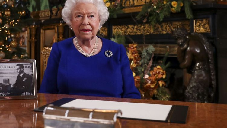 Elisabeth II, àBuckingham, le 3 avril 2020. (STEVE PARSONS / POOL)