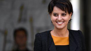 La ministre de l'Education, Najat Vallaud-Belkacem, à l'Elysée, à Paris, le 28 septembre 2016. (MAXPPP)