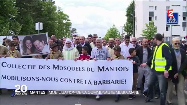 Couple de policiers tué : marche blanche à l'appel de la communauté musulmane à Mantes-la-Jolie