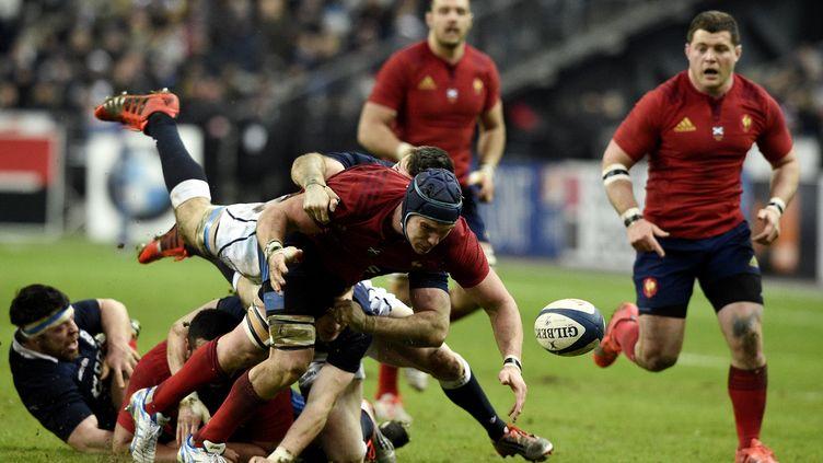 Les Français ont multiplié les fautes durant ce match face à l'Ecosse, samedi 7 février. (FRANCK FIFE / AFP)