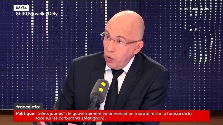 Eric Ciotti, député LR des Alpes-Maritimes, invité le 4 décembre 2018 de franceinfo. (RADIO FRANCE / FRANCEINFO)