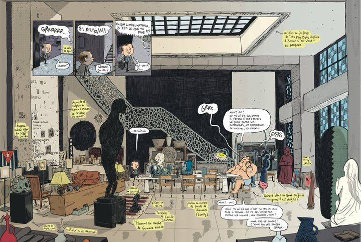 """""""Gérard, dans les pattes de Depardieu"""", pages 10 et 11  (Mathieu Sapin)"""