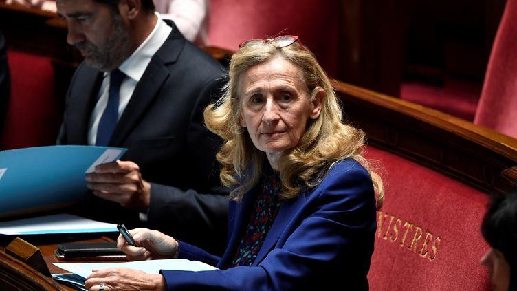 La ministre de la Justice Nicole Belloubet à l'Assemblée nationale à Paris le 16 juin 2020. (STEPHANE DE SAKUTIN / AFP)