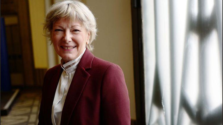 Pr Dominique Le Guludec, presidente du college de la haute Autorite de sante (HAS), le 9 mars 2018. (LUC NOBOUT / MAXPPP)