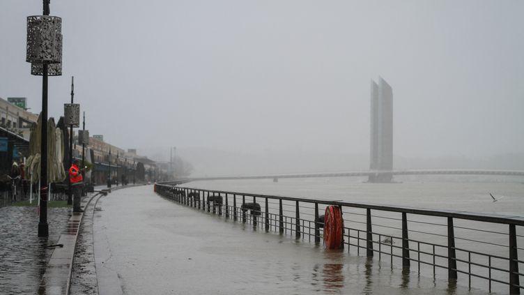 Inondations à Bordeaux (Gironde), le 1er février 2021. (BASTIEN MARIE / HANS LUCAS / AFP)