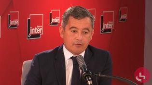 Le ministre de l'Intérieur Gérald Darmanin, invité de France Inter le 8 septembre 2021. (CAPTURE ECRAN / FRANCE INTER)