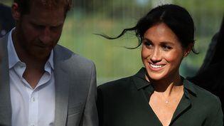 Le prince Harry et son épouse Meghan, le 3 octobre 2018 à Brighton,au Royaume-Uni. (DANIEL LEAL-OLIVAS / AFP)