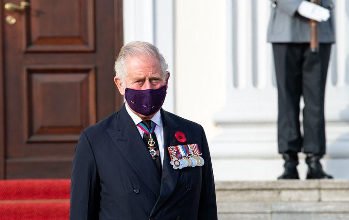 Prince Charles, traveling to Berlin, November 15, 2020 (BERND VON JUTRCZENKA / DPA)