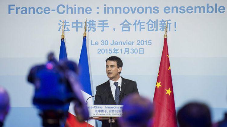 (Manuel Valls a plaidé la cause de la France devant les patrons chinois © MAXPPP)