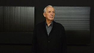 Pierre Soulages lors de l'exposition qui lui était consacrée à Rome en mars 2013  (Gabriel Bouys / AFP)