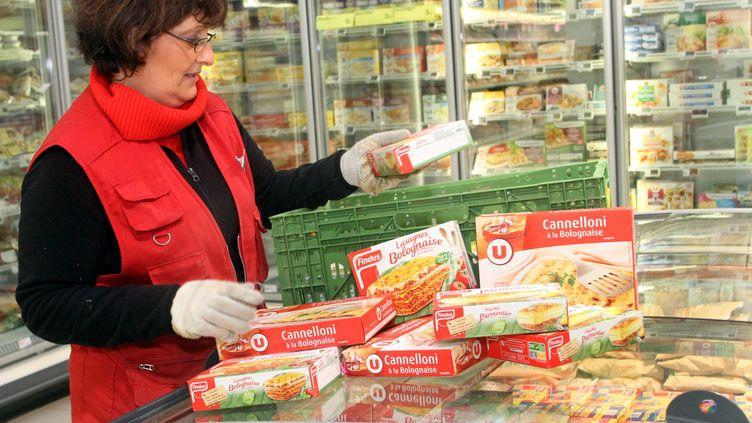 Les ventes de produits surgelés ont baissé de 5% lors du week-end des 16 et 17 février 2013, selon le ministre de la Consommation, Benoît Hamon. (MAXPPP)