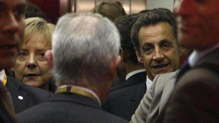Nicolas Sarkozy lors du sommet extraordinaire de l'UE le 7 mai 2010 à Bruxelles (AFP - MICHEL EULER - POOL)