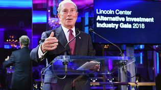 Michael Bloomberg, ancien maire de New York, lors d'un gala au Lincoln Center, le 16 avril 2018. (DIA DIPASUPIL / GETTY IMAGES NORTH AMERICA / AFP)