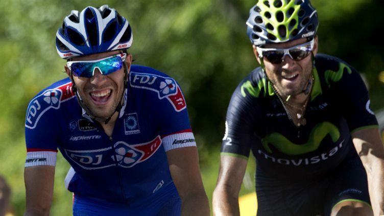 Thibaut Pinot a livré un joli duel avec Alejandro Valverde dans la montée vers Chamrousse