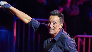 Bruce Springsteen au Madison Square Gardende New York,  le 27 janvier 2016.  (Robert Altman/AP/SIPA)